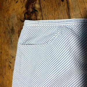 Seersucker Summer Skirt! Ann Taylor, baby